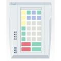 Pos клавиатура Posua LPOS-096-Mxx - RS232 Белый