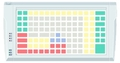 Pos клавиатура Posua LPOS-128-Mxx - RS232 Белый