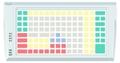 Pos клавиатура Posua LPOS-128-Mxx - RS232 Черный